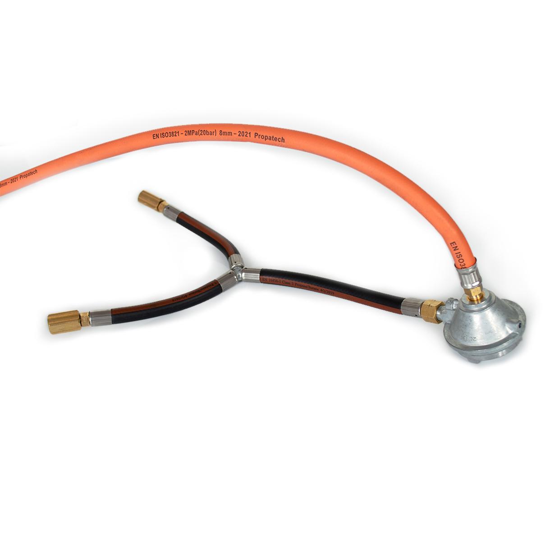 nomadiQ BBQ verlengde gasslang extended gashose and gas pressure regulator